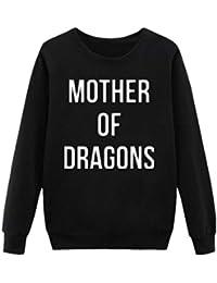 Thinkin Cartas Imprimir Madre De Dragones Sudadera Mujer Casual Juego De Tronos Sudaderas con Capucha Dama