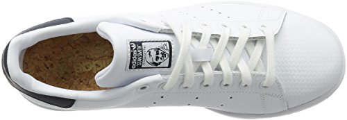 adidas Stan Smith, Scarpe da Ginnastica Uomo Bianco (Ftwwht/Ftwwht/Conavy)