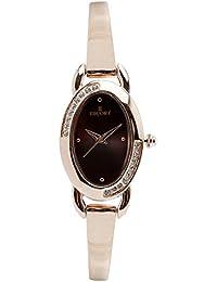 Escort Analog Brown Dial Women's Watch- 4511 RGM