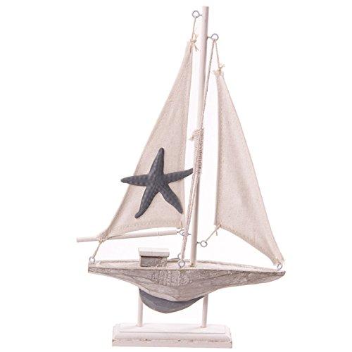 puckator-seas40-decorazione-in-legno-barca-31cm-con-stella-marina