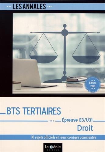BTS Tertiaires - Droit - Épreuve E3-U31 par Bernadette Voisin