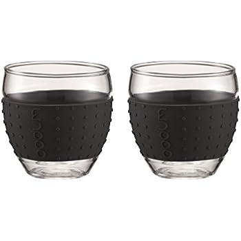 Bodum 11165-01 - Pavina - Set 2 Verres - 0,1 L - Noir