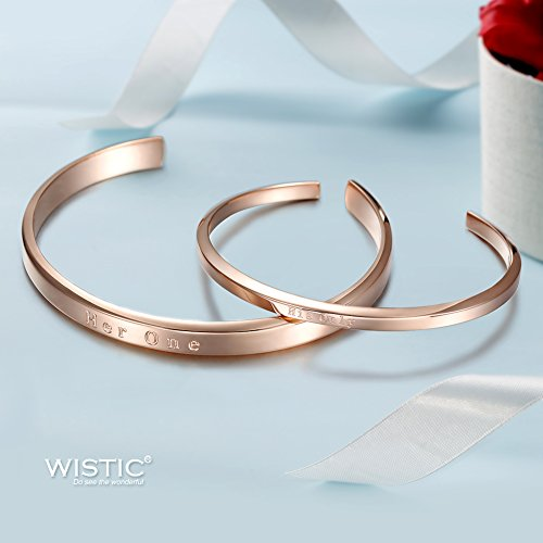 """Parr Partner Armbänder aus Edelstahl mit Gravur """"His Only & Her One"""" (""""His Only & Her One"""")"""
