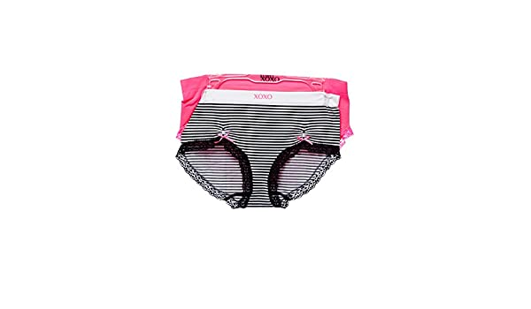 5461b2e7d Womens Plus Size XOXO Striped 2 Pcs Seamless Underwear Panties 8079 - -   Amazon.co.uk  Clothing