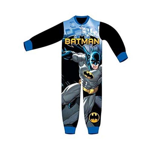 DC Comics - Pijama de una pieza - para niño negro negro y azul 5-6 Años