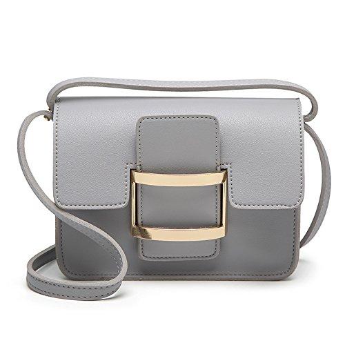 Mefly Tracolla Diagonale Borsa Da Donna Borsetta Nuova Primavera Ed Estate Verde Light grey