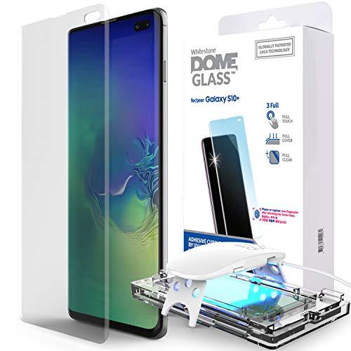 Samsung Galaxy S10 Plus Telefon-Bildschirmschutz, [Dome Glass] Gebogene Kante Keine UV Lamp von Whitestone (1 Stück) Dome-gläser