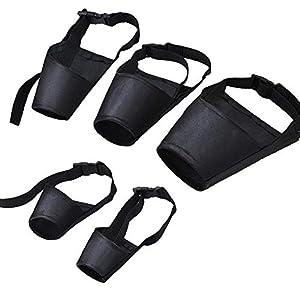 Myriad Choices Combinaison de Chien avec muserolle 5 pièces de Protection pour Chiens réglable, muserolle de l'abreuvoir Anti-morsures pour Chiens de Petite Taille de Taille Moyenne