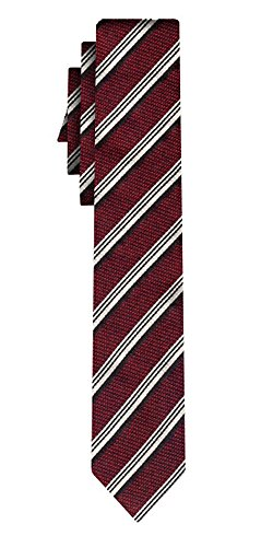Hugo Boss Black Diagonal Striped Silk Tie One Size RED