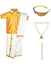Amirtha Fashion Boys Traditional Dhoti & Shirt Set(AMFCMGD - $P)