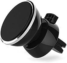 Soporte Movil Coche, POOPHUNS Soporte Coche, Soporte Magnético Universal, Soporte Metálico con Imán Magnético de Coche para Teléfono Móvil, 360° Rotación, Rejillas del Aire, Imanes Extra Fuertes, Compatible con iPhone 7/6/6S Plus 5/5S/SE/5C, Samsung