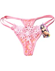 Demarkt Sexy Lingerie/ String pour Femmes/ en Dentelle avec une Petite Fleur du Prunier/ 6 Couleur a Choisir/ Taille Unique