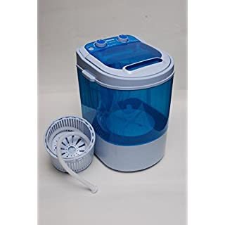 PORTABLE 230V MINI 3KG WASHING MACHINE FOR FLATS HOME SMALL KITCHEN WITH SPIN DRYER