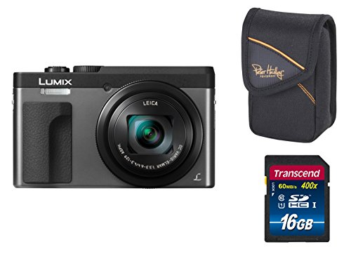 Panasonic Lumix TZ91 DC-TZ91EG-S Digitalkamera SET (silber) + Tasche + 16 GB Speicherkarte ( 21,1 MP , 30x opt. Zoom (entspricht 24-720 mm) 4K Video, WiFi, Beauty Retouch, Clear Retouch
