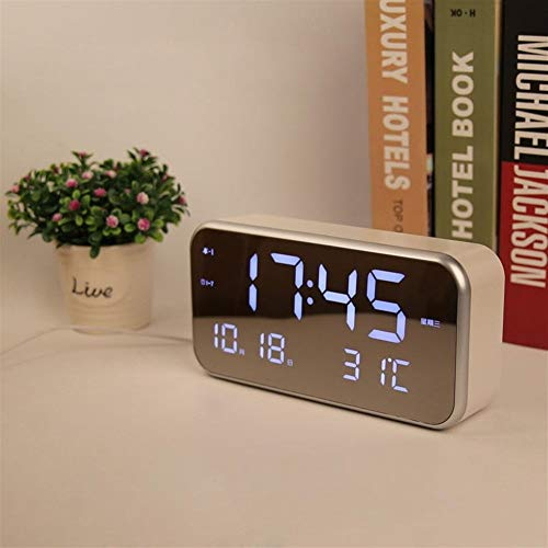 QCY AT Pantalla Grande LED Reloj Despertador Musical