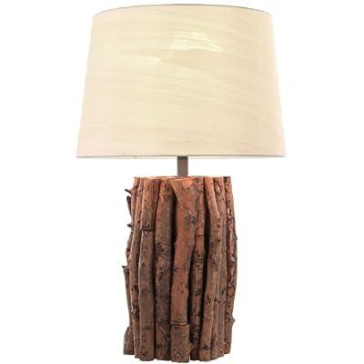 Nachttischlampe Holz Tischlampe Tischleuchte Lampe Leuchte Esto Kenia 924012 von Esto bei Lampenhans.de