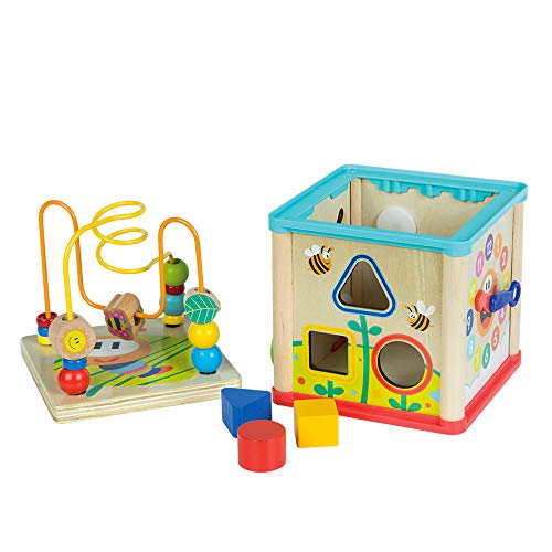 Woomax Wooden Activity Cube (ColorBaby 46250)