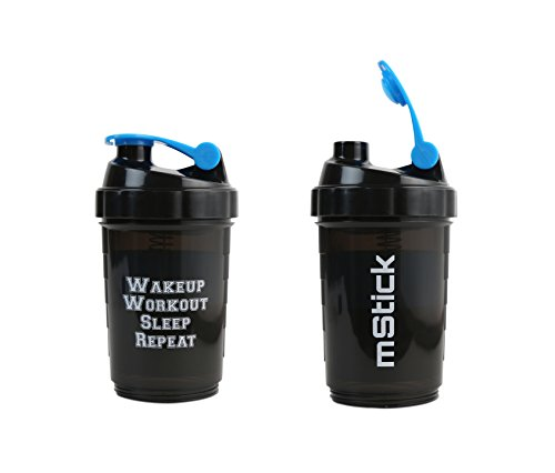 mStick 3 in 1 Protein Shaker Sports Gym Bottle 500 ml - Blue  available at amazon for Rs.99