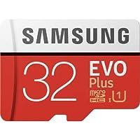 Samsung microSDXC Plus 100MB EVO + UHS-I Tip 3Class 10Micro SD, SD adaptörü ve HNV mini kutu yeni Versiyon 2017 32 gb MB-MC32GA + HNVJ
