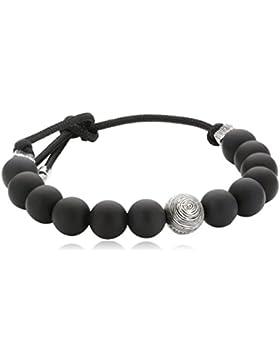 Baldessarini Herren Armband 925 Sterling Silber rhodiniert Kunststoff Onyx cm schwarz