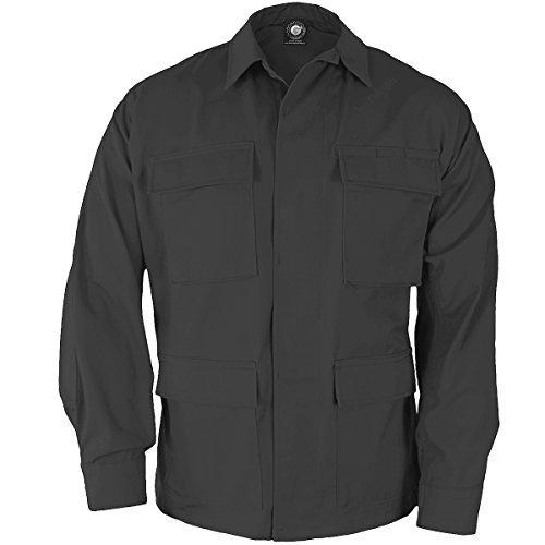 PROPPER F5464 Genuine Gear BDU 60C-40P Ripstop Coat Black S Regular (Shirts Black Bdu Ripstop)