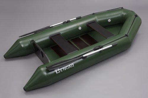 Bengar Schlauchboot Set L-280 Lotus 280, ideal geeignet als Angelboot in dunkelgrün
