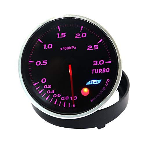 Vosarea Geändertes Auto-Auto-Instrument 12V 64 Farbhintergrundbeleuchtung 300KPa Turbolader-Messgerät