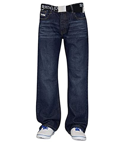 New Men's Designer Smith and Jones Jeans Free Belt Denim