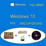 Windows 10 Pro OEM FQC-08929 Inglés DSP OEI OEM DVD + COA olografico Clanto pack