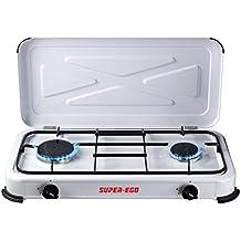 Super Ego SEH024800 - Cocina gas portátil, 60 x 10 x 30 cm, color blanco