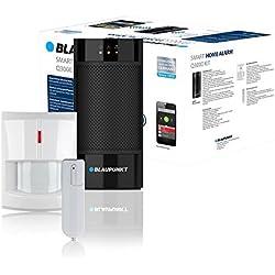 Blaupunkt Smart Home Alarm Q3000 Starter Kit; Smart Home Alarmanlage bzw. Funk-IP Sicherheitssystem für Haus, Wohnung, Geschäft, Ferienhaus; Kit bestehend aus: IP-Alarmzentrale, Funk-Bewegungsmelder (IR-S1L), Funk-Tür/Fenstersensor (DC-S1).