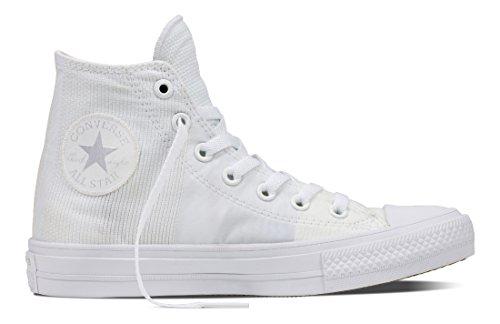 Converse Unisex-Erwachsene Chuck Taylor All Star Ii Hohe Sneaker Weiß (White/White/White)