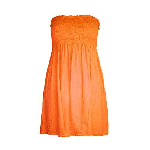 Janisramone Frauen Damen Neu Plain Gedruckt Bandeau Boobtube Mini Kleid Versammeln Sheering Sommer Flared Top Bandeau-kleid