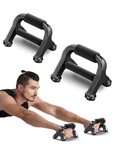 Sportstech einzigartiger 2in1 Bauchtrainer mit 360° Training&Liegestützgriffe,der X-Roller mit patentiertem Rollensystem,für ein intensives Ganzkörpertraining–inkl. Knieauflagematte