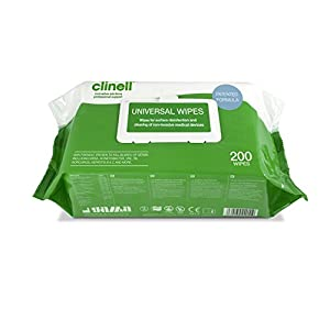 clinell universal disinfectant wipes - pack of 200 large wipes