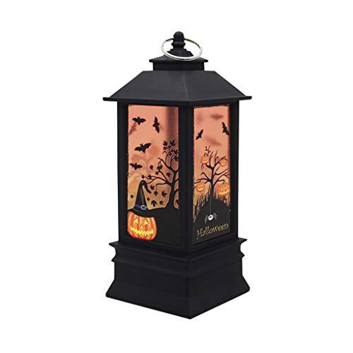 Sayla Halloween Deko Kürbis Licht Lampe LED Nachtlicht Nachttischlampe Schlummerleuchte für Halloween Party Weihnachten Ostern Häuser Gärten (D)