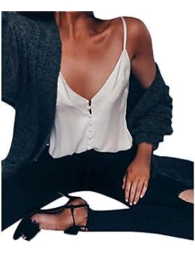 JYC Suelta Manga Corta,Sudadera Para Mujer,Camiseta Verano 2018,Blusas De Mujer Elegantes De Fiesta, Gasa Chaleco...