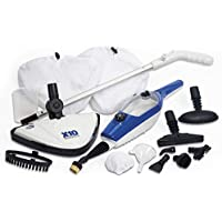 Easy Steam Steam Mop Handheld Floor Cleaner Chemical Free 1500w with 10 Attachments & 1 Spare Pad (Steam Mop with 1 Spare Pad, Blue)