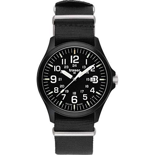 Traser H3PRO–oficial de hombre reloj correa de la OTAN uno tamaño Sapphire/negro