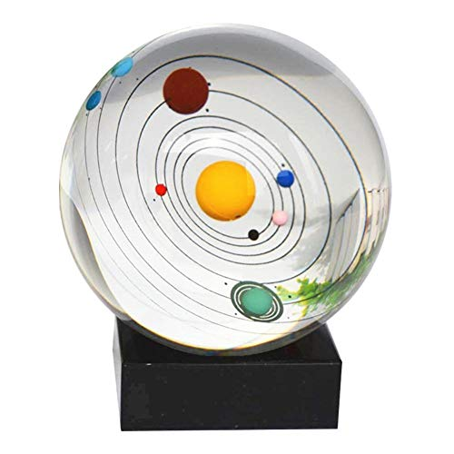 3D Solar System Kristallkugel mit Ständer klar Planet Educational Ball Cosmic Modell graviert Glaskugel Bürodeko