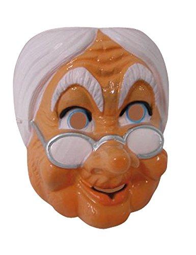 Maske Theatermaske Gesichtsmaske alte Frau braun-weiss (Alte Maske Frau)