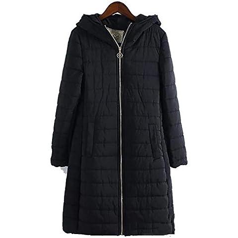 YUYU Ocio capucha larga delgada Mantener caliente Escudo Ultra Ligero poco voluminoso Chaqueta , m , black