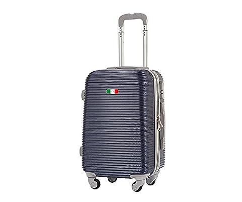 Valise bagage cabine 50cm - Trolley ABS ultra Léger - 4 roues pour voler avec EasyJet - Ryanair art 1165 / petit bleu