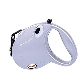Peting Or et Argent Couleur Retractable Dog Leash Durable Laisses Animaux confortables avec haute résistance Nylon