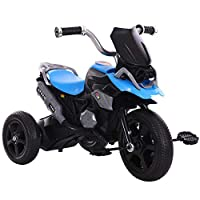 FJ-MC Kids Tricycle, Simulated Motorcycle Appearance, Children 3 Wheel Pedal Bike, for 2-7 Years Kids and Toddlers,Blue