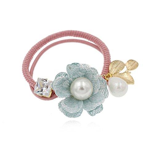 tocado de flor coreana/ primer círculo de la mariposa/Paño pelo banda lazo trenzado de cuerda-A
