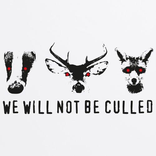 We Will Not Be Culled T-Shirt, Herren Wei