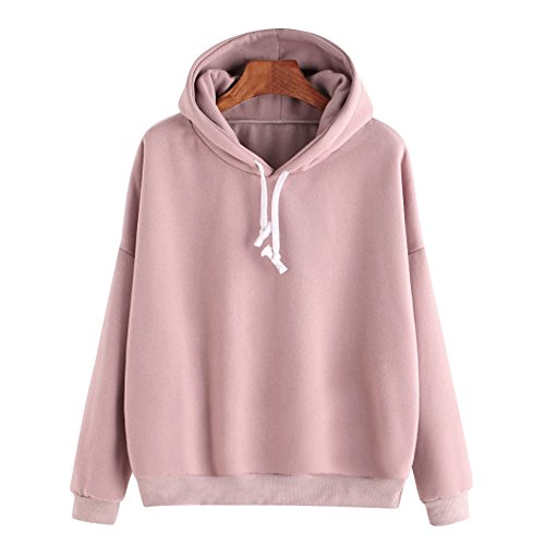BBring Mode Kapuzenpullover Damen Langarm Sweatshirt Hooded Jumper Pullover Hoodies Rosa Top Blouse (S, Rosa)