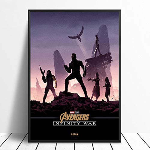 taoyuemaoyi Capitan America: Avengers Infinity War Poster Marvel Comic qualità del Film Stampa Home Decor Wall Decor Wall Art Canvas Painting 40 * 60Cm