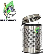 Parasnath Stainless Steel Perforated Pedal Dustbin